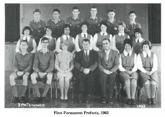 1963 Spotswood College prefects