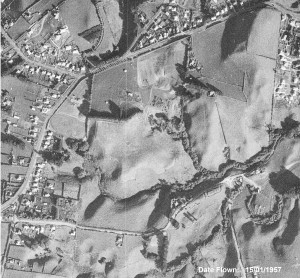 Aerial Photo of the 'Spotswood settlement' 1957