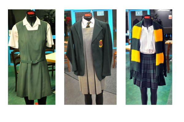 Display of Girls uniforms